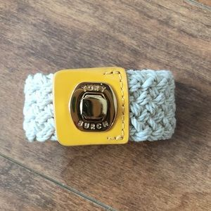 Tory Burch Nautical Rope & Leather Bracelet